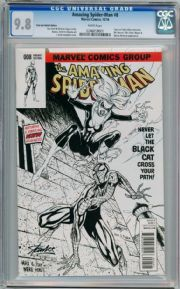Amazing Spider-man #8 Campbell Stan Lee Sketch Variant (2014) CGC 9.8 Marvel comic book